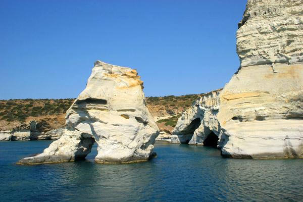 Milos Island, The Inactive Volcano Of The Aegean