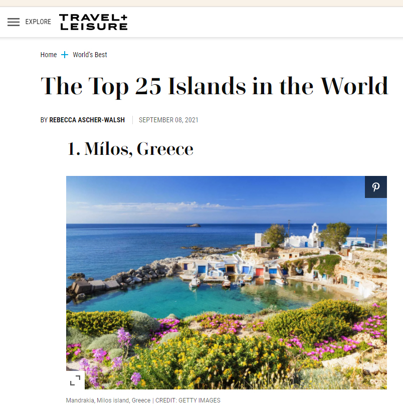 (English) Milos On Top Of The World's Best Islands!